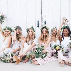 not with the flower headbands, but the pic is cute♡ pinterest @MANARELSAYED ♡