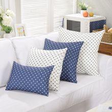 Blue star dekoracyjne rzut poduszki bez wewnętrznego poliester bawełna sofa seat…