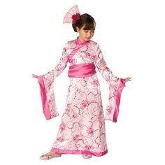 Asian Princess Waan jezelf in het verre oosten met deze mooie Aziatische prinsessenjurk met obi en haarstukje.