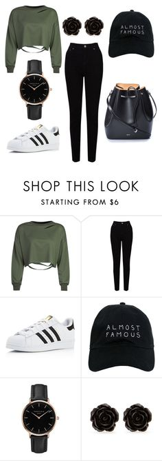 """""""Untitled #1"""" by kaiskye ❤ liked on Polyvore featuring WithChic, EAST, adidas, Nasaseasons, Topshop, Erica Lyons and N°21"""