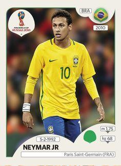 Neymar Jr. - Brasil - Panini FIFA world cup Russia 2018