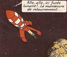 la fusée lunaire de Tournesol • explorers on the moon • Tintin, Herge j'aime