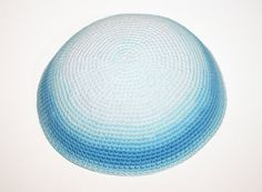 kippah blue white by crochetkippah on Etsy Knit Hats, Bar Mitzvah, Knit Crochet, Addiction, Projects To Try, Blue And White, Textiles, Knitting, Clothing