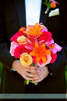 wedding flowers pink yellow - Google Search