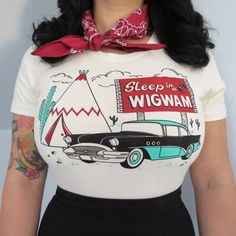 Have you slept in a Wigwam lately?This design is a tribute to Route 66 road trips, cruising past those iconic teepee motels and if you're lucky the experience of staying in one! Wigwam Motel, Route 66 Road Trip, Road Trips, Baby Shirts, Tee Shirts, Pin Up, Shirt Designs, Trending Outfits, T Shirts