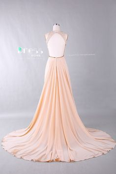 2015 Sweet 16 Champagne Beading Lace Prom Dress/Open by DressHome