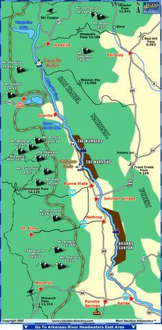 Arkansas River Headwaters Fishing Map, CO, Colorado Vacation Directory Fishing Maps, Fishing Uk, Fishing Girls, Fishing Life, Trout Fishing, Kayak Fishing, Fly Fishing Colorado, Monument Colorado, Fish Camp