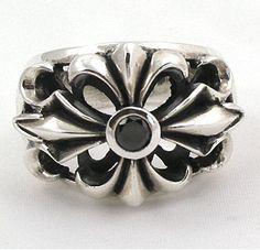 Chrome Hearts ring with black diamond