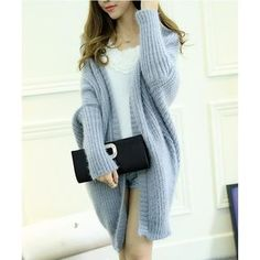 33Buy Gaia Batwing-Sleeve Chunky Cardigan at YesStyle.com! Quality products at remarkable prices. FREE WORLDWIDE SHIPPING on orders over US$35.