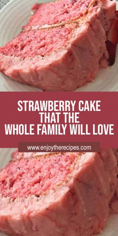Jello Cake Recipes, Recipes Using Cake Mix, Cake Mix Desserts, Cake Recipes From Scratch, Baking Recipes, Delicious Desserts, Dessert Recipes, Keto Recipes, Strawberry Jello Cake