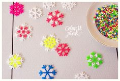 DIY – snowflake bead pattern by coloritpink