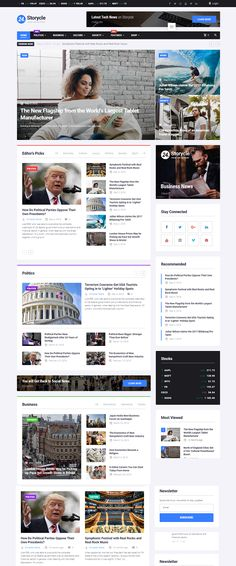 Multipurpose News Portal Elementor WordPress ThemeBest Picture For Web Design studio For Your TasteYou are looking for something, and it is going to tell you exactly what you are looking for, and you didn't find that picture. Site Web Design, News Website Design, News Web Design, Wordpress Website Design, Website Design Inspiration, Web News, App Design, Layout Design, Banner Site