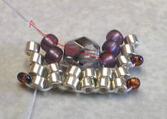 Herringbone Sparkle Bracelet pattern. This is an excellent example of how to substitute in a crystal, then continue the pattern. #Seed #Bead #Tutorials