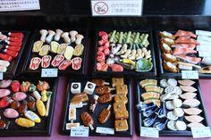 Photo by Gail Nakada. Chopstick rests at a shop in Kawagoe, Saitiama, Japan.