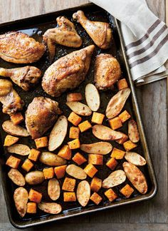 Roast Chicken and Vegetables with Fall Spices