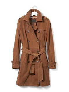 Suede Trench | Banana Republic