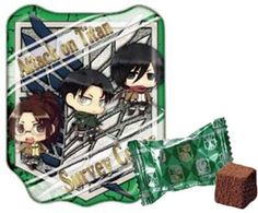 Attack on Titan – Survey Corp Emblem Tin with Chocolates (Green) $6.99 http://thingsfromjapan.net/attack-titan-survey-corp-emblem-tin-chocolates-green/ #attack on titan chocolate #Japanese anime stuff #Japanese snack