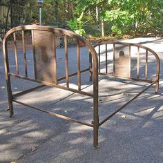 Metal Bed Frame by styleagency on Etsy, $650.00