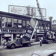 """Worcester Historical Museum on Instagram: """"On June 5, 1951 the famous George's Coney Island neon sign was installed - 66 years ago today. It was the idea of owner George Tsagerelis.…"""""""