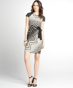 Taylor tan and black printed stretch jersey side tie dress