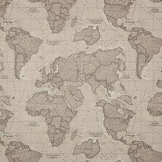 World map fabric map fabric world fabric blue fabric half yard buy john lewis world map john lewis world map teflon coated tablecloth fabric mocha online gumiabroncs Choice Image