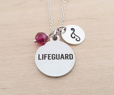 Lifeguard Necklace  Lifeguard Charm  by CYDesignStudio on Etsy