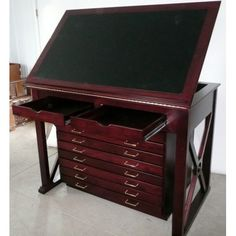 39 Ideas art studio furniture drafting desk for 2019 Art Studio Storage, Art Studio Organization, Art Storage, Art Furniture, Studio Furniture, Furniture Design, Flat Files, Drafting Desk, Drafting Tables