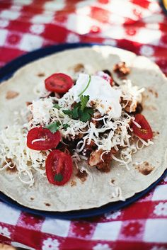 chicken tacos - in the little red house
