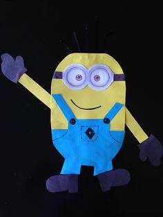 Despicable Me yellow minion craft by me!