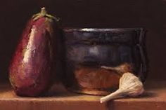 eggplant still life painting - Google Search