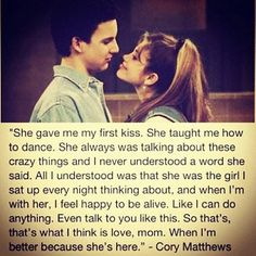 Corey and Topanga:unrealistic expectations from the 90s..