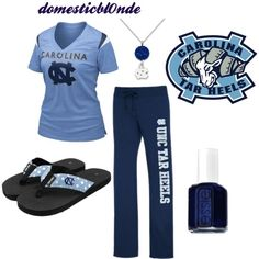 tarheels gameday 2, created by domesticbl0nde on Polyvore