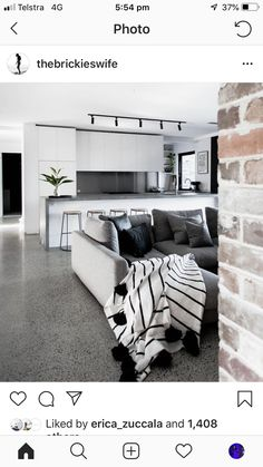 Hawkesbury House - The Brick Pit Brick Feature Wall, Brick Laying, Recycled Brick, Modern House Design, Building A House, Sweet Home, New Homes, Couch, Interior Design