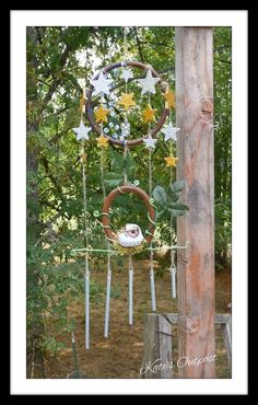 The Night Owl Wind Chimes by KatesOutpost on Etsy