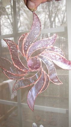 Stained Glass Sun catcher Ornament 8 sold - Art World Stained Glass Ornaments, Stained Glass Christmas, Stained Glass Suncatchers, Stained Glass Designs, Stained Glass Panels, Stained Glass Projects, Fused Glass Art, Stained Glass Patterns, Leaded Glass