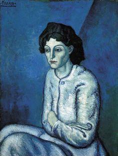 Pablo Picasso - Mujer con los brazos cruzados, 1902