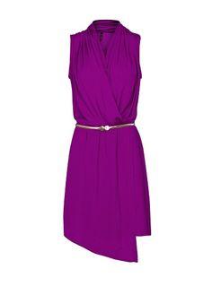 Asymmetric wrapped dress from Mango. High Street Fashion, Dresses For Apple Shape, Dresses For Work, Apple Shape Fashion, Stylish Older Women, Fashion Over 50, Fashion Tips, Designer Wear, Designer Clothing