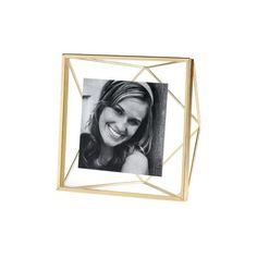 Prisma Gold Frame ($13) via Polyvore featuring home, home decor, frames, gold picture frames, gold frames, gold home decor and gold home accessories