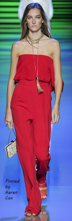 Spring Elie Saab 2016 Ready To Wear - Red Jumpsuit