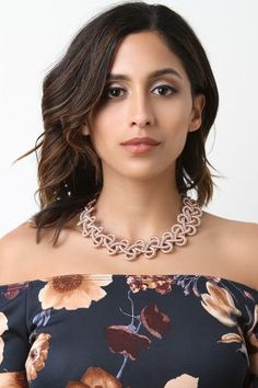 Metallic Wrapped Intertwined Necklace