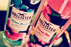 Holister Fragrances I have the pink one it's smells so good !!
