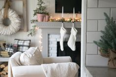 French Cottage Christmas Mantle
