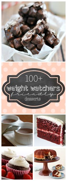 Weight Watcher Friendly Desserts Weight Watchers Friendly Desserts, worth checking out whether or not you are on a diet! Weight Watchers Friendly Desserts, worth checking out whether or not you are on a diet! Weight Watcher Desserts, Plats Weight Watchers, Weight Watchers Meals, Weight Watchers Brownies, No Calorie Foods, Low Calorie Recipes, Köstliche Desserts, Dessert Recipes, Dinner Recipes