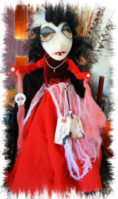 Your place to buy and sell all things handmade Whimsical Halloween, Halloween Doll, Happy Halloween, Custom Capes, Sale Sale, New Dolls, Mixed Media Art, Face And Body, Needle Felting
