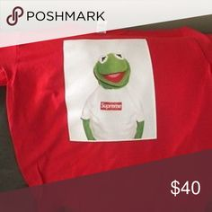 c5f50cb0fd57 Supreme Kermit shirt never worn  40 PayPal only! Great condition never worn  message me to find out more Supreme Shirts Tees - Short Sleeve