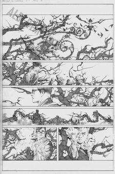 Batman / Superman 1 page 3 - Jae Lee Comic Art