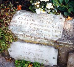 Grave Marker- Claude Monet (1840 - 1926) Innovative and prolific French painter, best known as the leader, and unswerving advocate of the Impressionist school of painting.