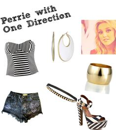 """""""Perrie with One Direction Inspire Outfits"""" by little-mix-clothes ❤ liked on Polyvore"""