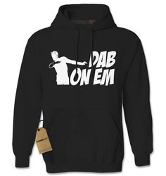 Hoodie Dab on Em Hooded Jacket Sweatshirt Viral Dance Craze Hoodie #1162 from $24.99 at xpressiontees.etsy.com | #ExpressionTees