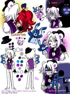 ImageFind images and videos about fnaf and sister location on We Heart It - the app to get lost in what you love. Five Nights At Freddy's, Fnaf Pole Bear, Animatronic Fnaf, Fnaf 5, Nanbaka Anime, Fnaf Sister Location, Fnaf Characters, Fnaf Drawings, Bendy And The Ink Machine